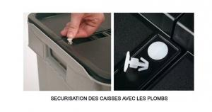 PLOMB SECURITE CAISSE COUVERCLE SOLIDAIRE SERIE EA
