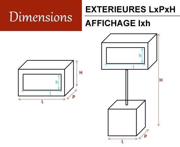 Optimum ds equipements pour chr et services de maintenance for Affichage lumineux exterieur